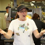 Western Elementary School teacher Michelle Baker greets students during Teacher's Night at McDonald's on Rubber Avenue in Naugatuck. Ten teachers worked at McDonald's from 5-8 p.m. June 2 to raise money for the school. Ten percent of sales will be donated to the school.